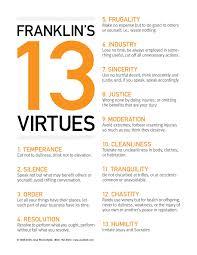 25 13 virtues ideas | benjamin franklin, franklin, virtue